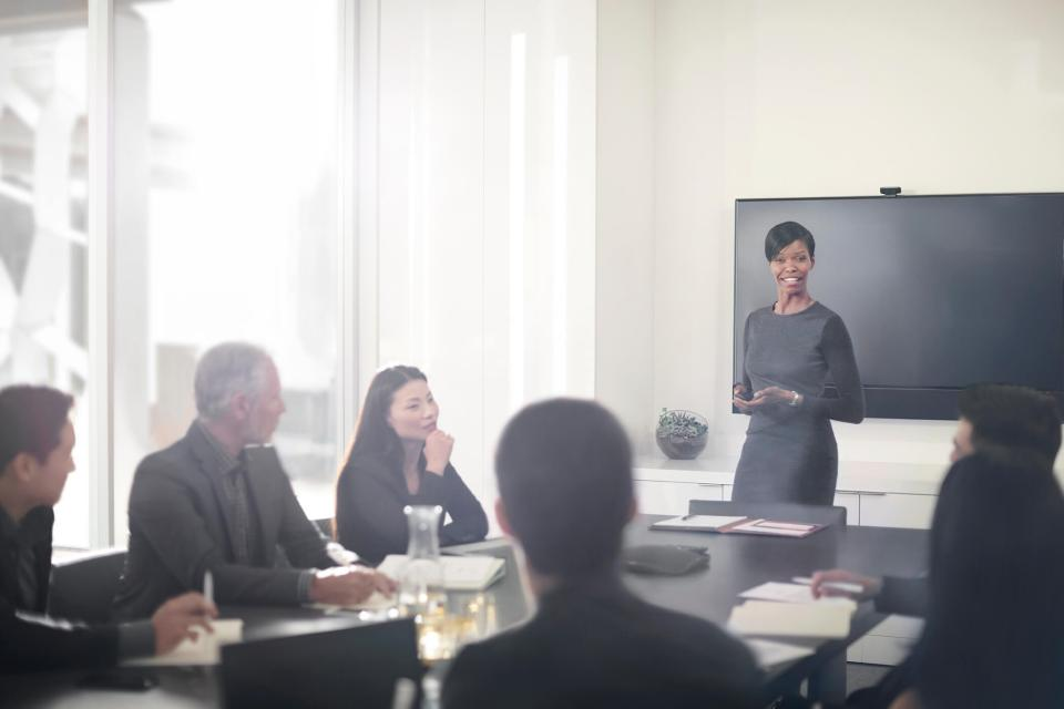 This is an image of a business meeting