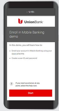 online banking interactive demo